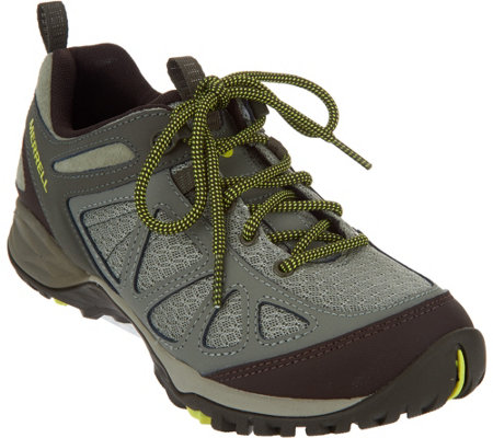 Merrell Leather & Mesh Lace-up Hiking Sneakers - Siren Sport Q2