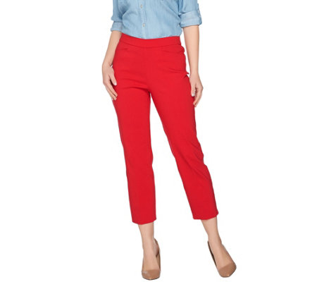 """As Is"" Susan Graver Regular Ultra Stretch Pull-On Crop Pants"