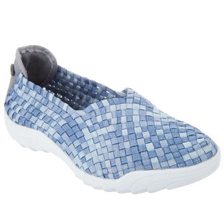 Bernie Mev Basket Weave Slip On Shoes Rigged Fly