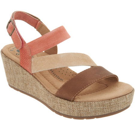Earth Origins Leather or Suede Wedges - Maxine