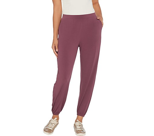 """As Is"" Lisa Rinna Coll. Knit Cropped Jogger Pants"