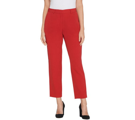 Brooke Shields Timeless Petite Woven Ankle Pants