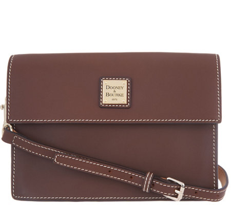 Dooney & Bourke Vachetta Leather East/West Flap Crossbody