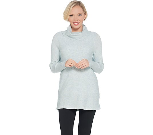 Studio by Denim & Co. Heathered Turtleneck Long Sleeve Sweater