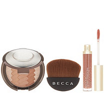BECCA Gradient Sunlit Bronzer with Lip Gloss and Brush - A344819