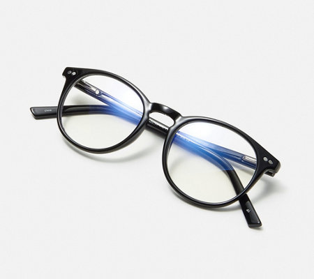 Prive Revaux The Maestro Blue Light Reading Glasses Strength 0-2 5 — QVC com