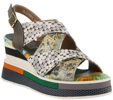 L'Artiste by Spring Step Leather Sandals - Akosa