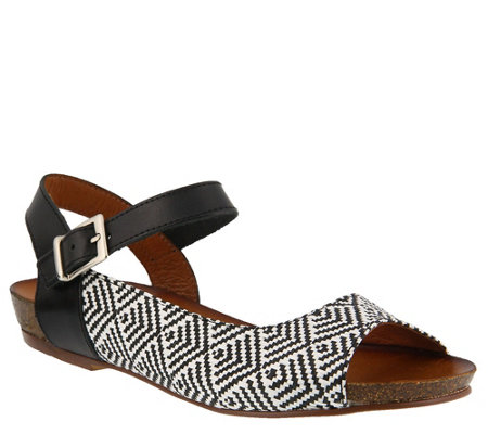 Spring Step Leather Sandals - Asimona