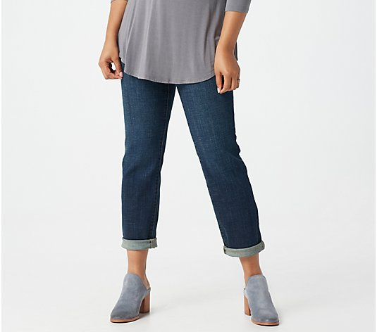 LOGO by Lori Goldstein Girlfriend High Rise 5 Pocket Ankle Jeans