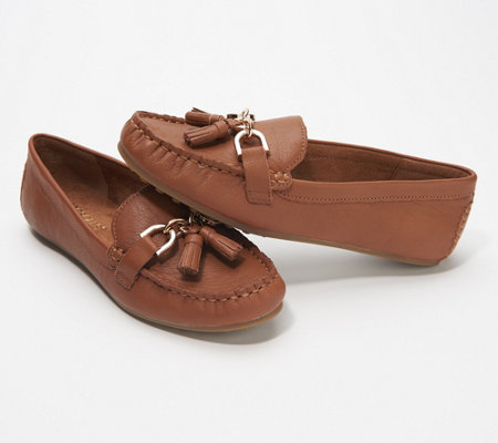 Aerosoles Suede Loafer with Tassel - Soft Drive