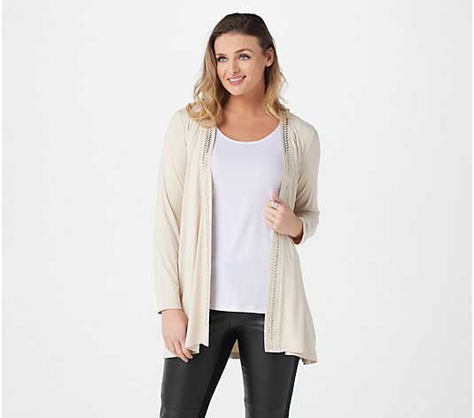 Dennis Basso Soft Touch Cardigan with Embellishment