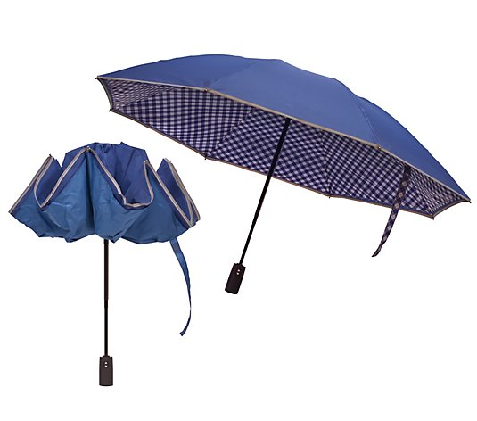 Revers-A-Brella S/2 Portable Umbrellas with Reflective Border