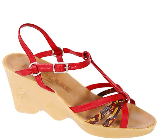 Famolare Hi Up Leather Wedge Sandal - To A Tee