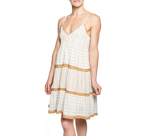 AREA STARS Knee Length Embroidered Dress - Bahia