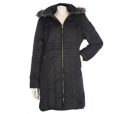 d1dd44b4dd15c Centigrade Quilted Down Coat with Removable Faux Fur Hood - Page 1 ...