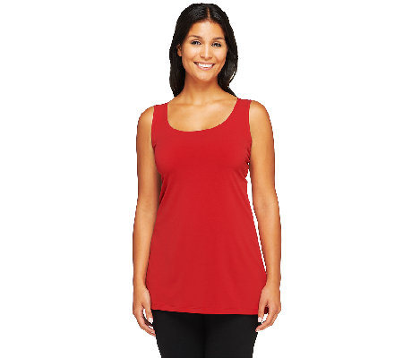 Susan Graver Essentials Liquid Knit Scoop Neck Tank Top