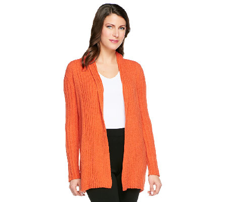 Linea by Louis Dell'Olio Boucle Knit Open Front Cardigan