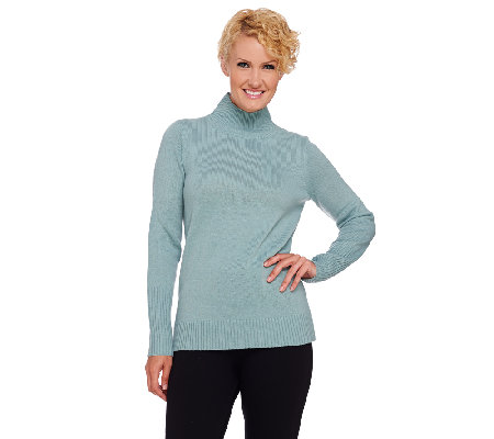 Dennis Basso Long Sleeve Turtleneck Sweater