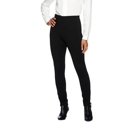 Kelly by Clinton Kelly Regular Pull-On Straight Leg Ponte Pants