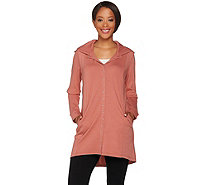 Linea Leisure by Louis Dell'Olio Snap Front Hooded Tunic - A279520