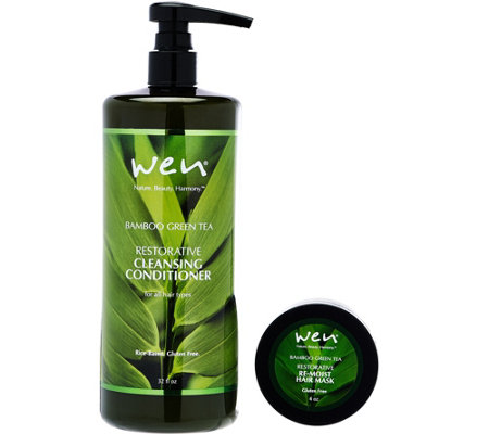 WEN by Chaz Dean Rice 32 fl oz. Cleansing Cond. w/ 4 oz. Mask
