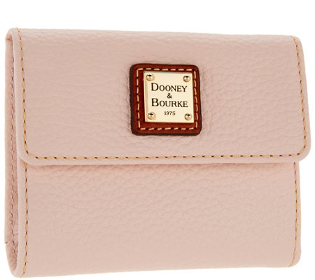 Dooney & Bourke Pebble Leather Credit Card Wallet