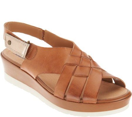 Earth Leather Wedge_Sandals - Sunflower