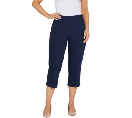 Dennis Basso Double Weave Pull-On Capri Pants