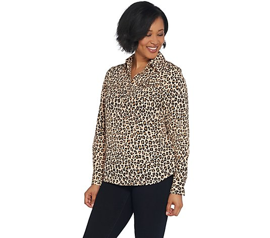 Lisa Rinna Collection Half Placket Lois Blouse