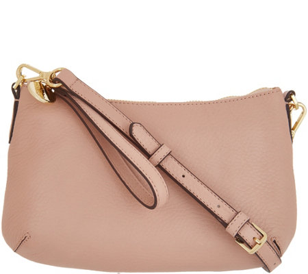 """As Is"" G.I.L.I. Leather Crescent Crossbody"