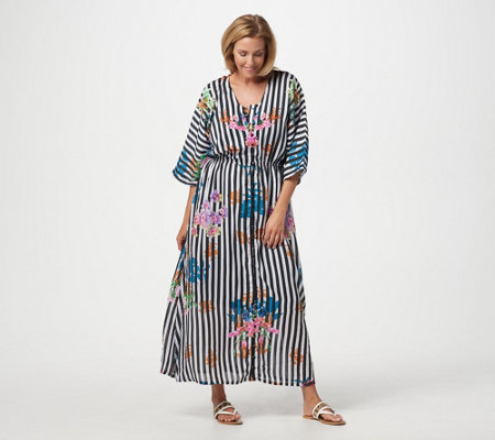 Tolani Collection Petite Printed Lined Woven Maxi Dress