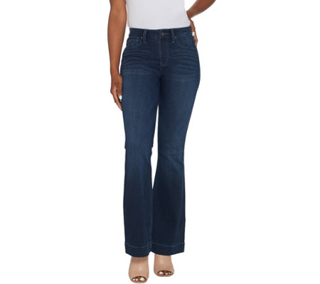As Is Laurie Felt Tall Silky Denim Pull On Flare Jeans