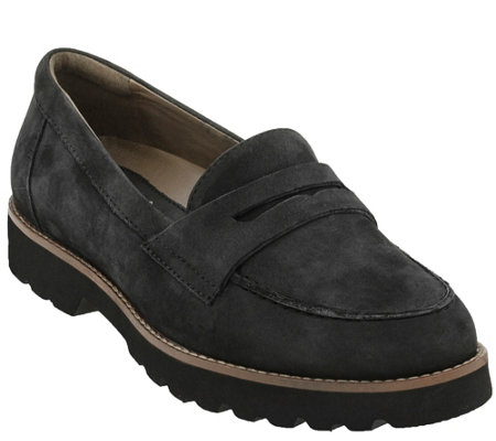 Earthies Leather Slip On Loafers - Braga