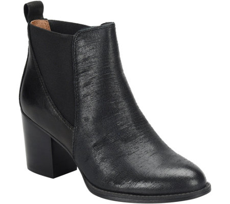 Sofft Leather Ankle Boots - Welling