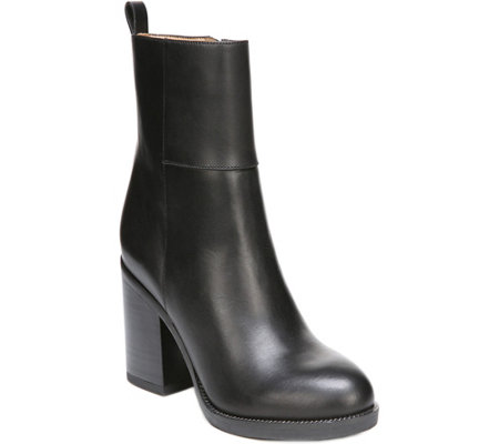 Franco Sarto Leather Ankle Boots - Owens