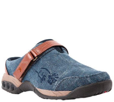 Therafit Denim Fabric Clog Slip-Ons - Austin Denim
