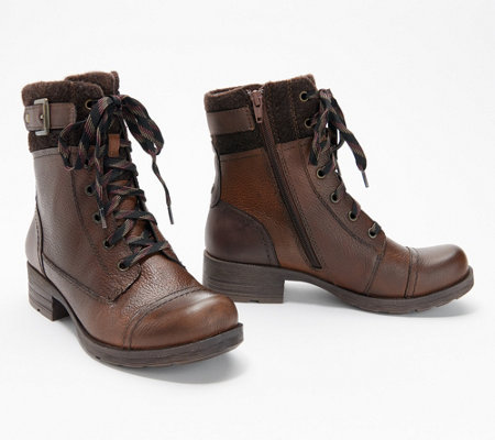 Earth Origins Leather Lace-Up Mid Boots - Randi Raquel