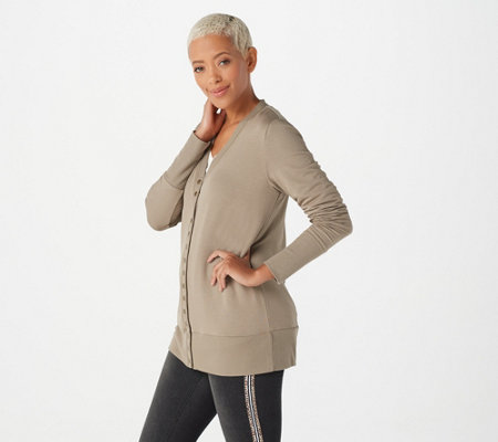 Belle by Kim Gravel French Terry Snap Front Cardigan