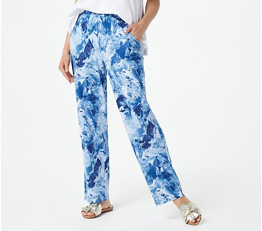 Belle Beach by Kim Gravel Shiborri-Print Knit Beach Pant
