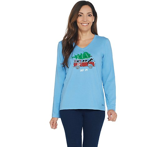 Life is Good Crusher Long-Sleeve All In Vee