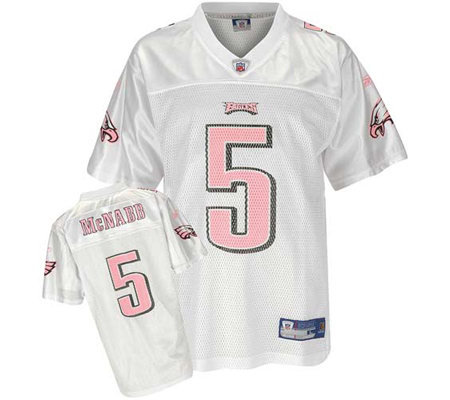 White Pink Jersey Eagles And