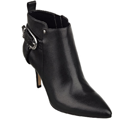 Marc Fisher Leather Pointed Toe Ankle Boots - Julita