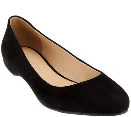 H by Halston Suede Slip-on Flats - Alice