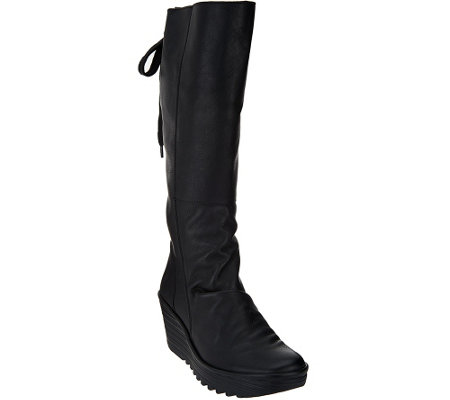 FLY London Leather Tall Shaft Boots -Yust