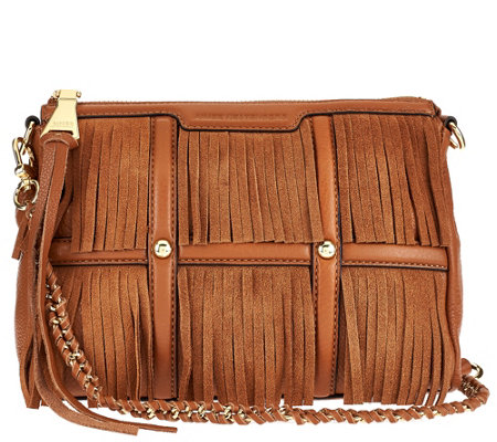Aimee Kestenberg Leather and Suede Fringe Crossbody