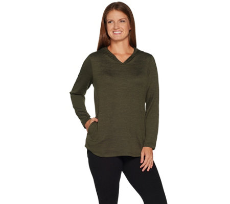 Denim & Co. Active Heavenly Jersey Hi-Low Hem Tunic w/ Pocket