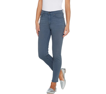H By Halston Premier Denim Petite Ankle Length Skinny Jeans