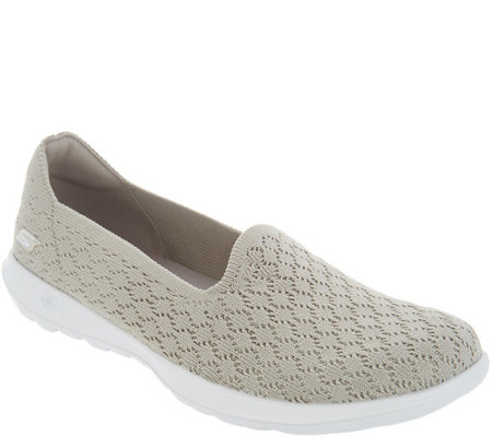 Skechers Go Walk Lite Knit Slip On Shoes - Daisy