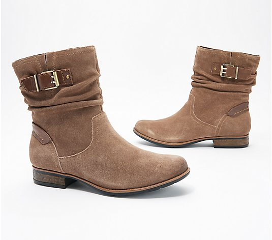 Earth Suede Mid Boot w/ Buckle - Avani Butternut