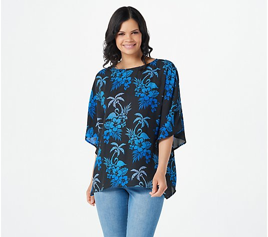 Quacker Factory Printed Caftan Top